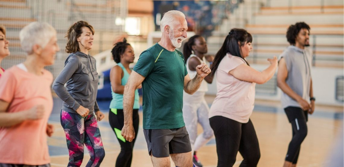 Zumba is a good exercise to make you happy.