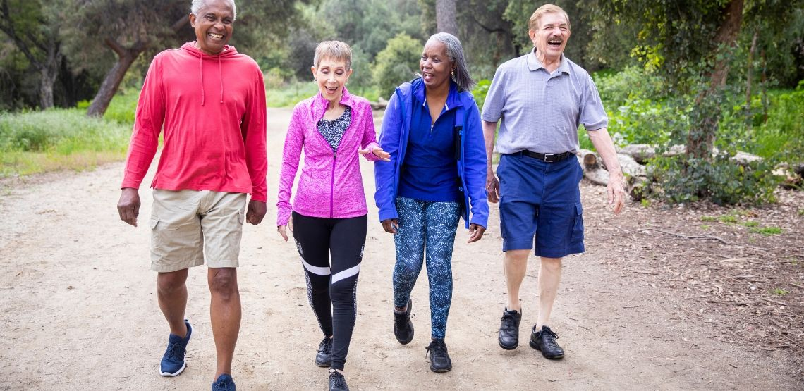 Walking groups are a great way to exercise.