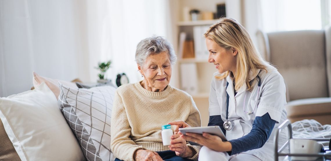 Having at-home medical care can be a good option for elderly parents.