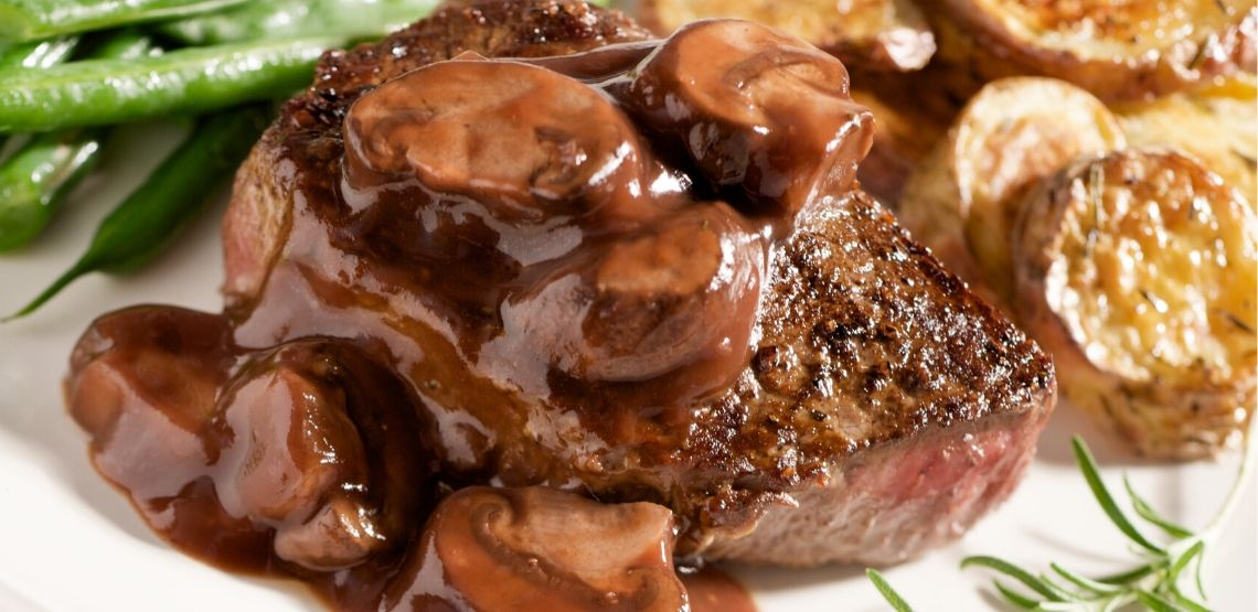 Steak with mushrooms is a great fall recipe.