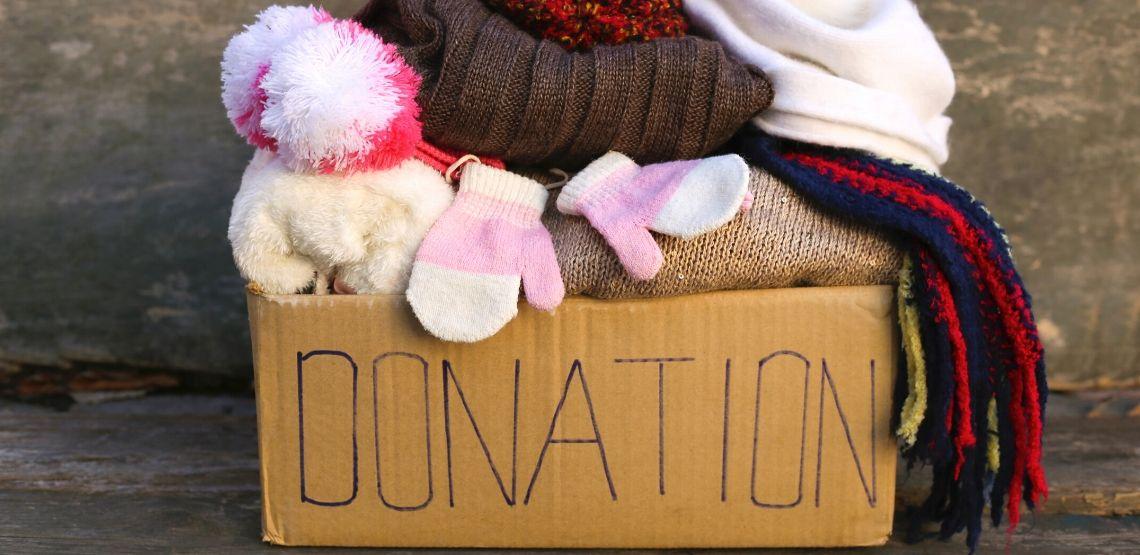 A donation box.