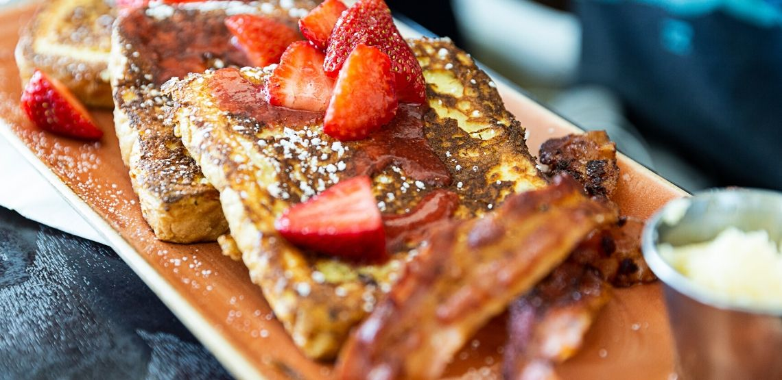 French toast is a great food to have at brunch.
