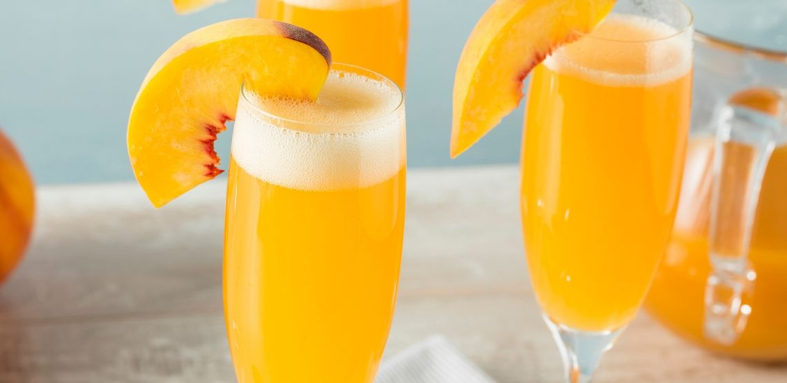 Mimosa is a great drink to enjoy champagne.