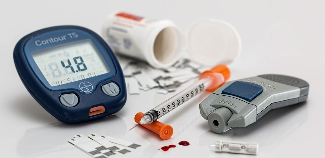 Medical supplies for diabetes.