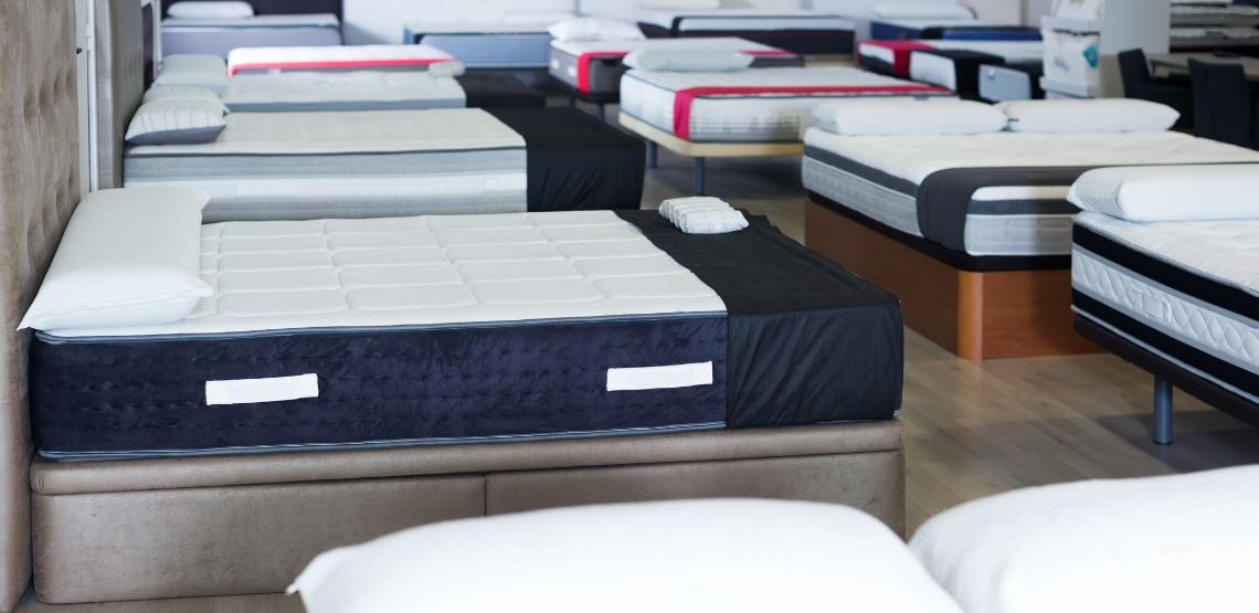 Mattresses in a store.