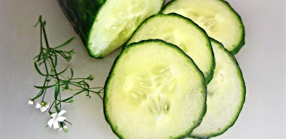 Slices of cucumber.