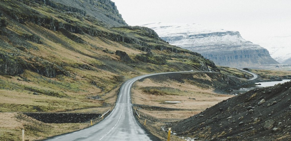 The Ring Road in Iceland.